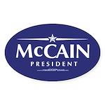 """John McCain 2008"" Oval Sticker"