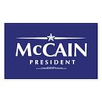 """John McCain 2008"" Rect Sticker (10)"