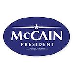 """John McCain 2008"" Oval Sticker (10)"