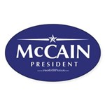 """John McCain 2008"" Oval Sticker (50)"
