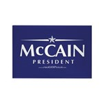 """John McCain 2008"" Rectangle Magnet (100"
