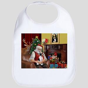 Santa & Toy Fox Terrier Bib