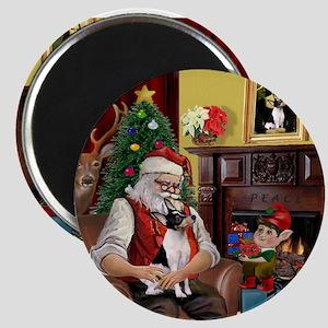 "Santa & Toy Fox Terrier 2.25"" Magnet (10 pack)"