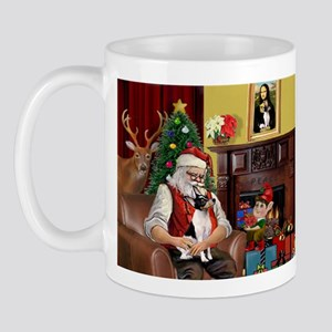 Santa & Toy Fox Terrier Mug