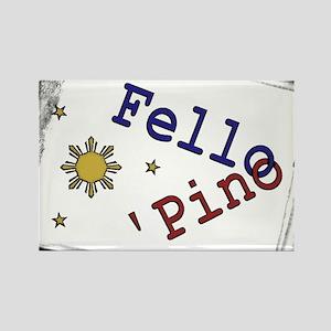 Fello' Pino' Rectangle Magnet