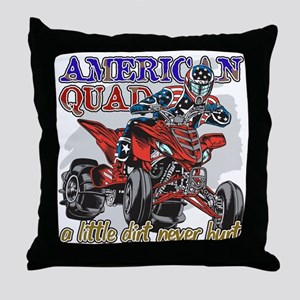 American Quad Throw Pillow