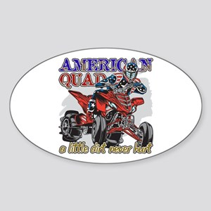 American Quad Sticker (Oval)