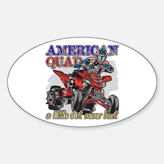 American Quad Sticker (Oval)