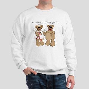 Bride and Groom Bear Sweatshirt
