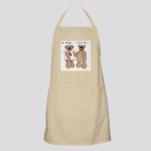 Bride and Groom Bear BBQ Apron