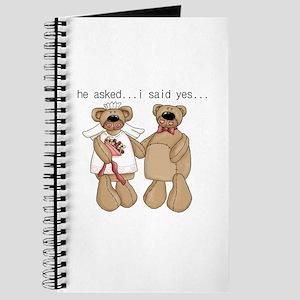 Bride and Groom Bear Journal