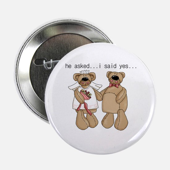 "Bride and Groom Bear 2.25"" Button"