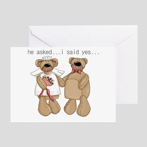 Bride and Groom Bear Greeting Card
