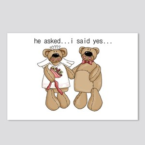 Bride and Groom Bear Postcards (Package of 8)