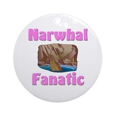 Narwhal Fanatic Ornament (Round)
