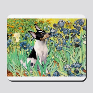 Irises & Toy Fox Terrier Mousepad