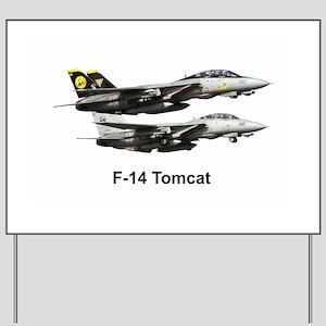 USN F-15 Tomcat Yard Sign