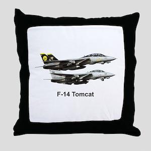 USN F-15 Tomcat Throw Pillow