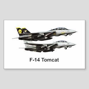 USN F-15 Tomcat Rectangle Sticker