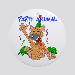 Hyena Party Animal Ornament (Round)