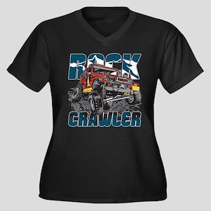 Rock Crawler Women's Plus Size V-Neck Dark T-Shirt