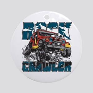Rock Crawler 4x4 Ornament (Round)