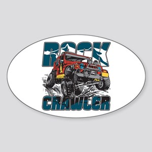 Rock Crawler 4x4 Sticker (Oval)