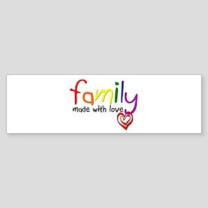 Gay Family Love Bumper Sticker