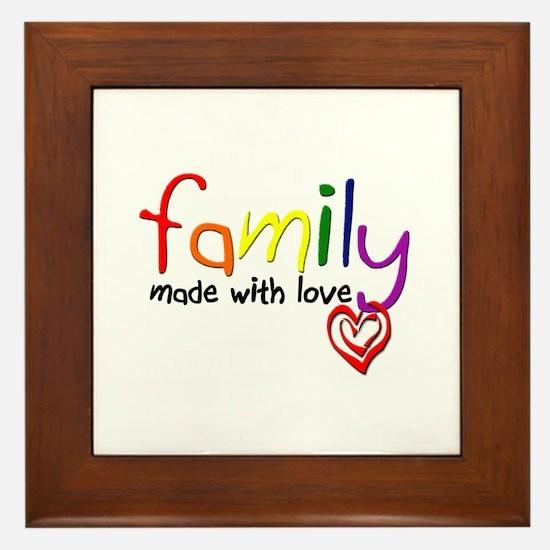 Gay Family Love Framed Tile