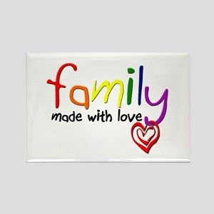 Gay Family Love Rectangle Magnet