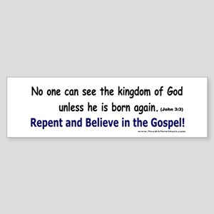 John 3:3 Bumper Sticker