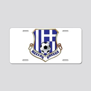 Greece Soccer Shield Aluminum License Plate