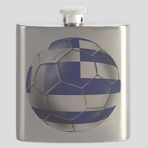 Greece Football Flask