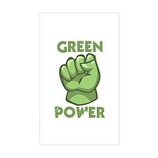 Green Power Rectangle Sticker