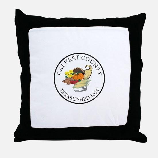 CALVERT-COUNTY-SEAL Throw Pillow