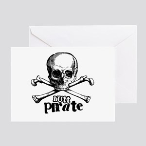 Butt pirate Greeting Card