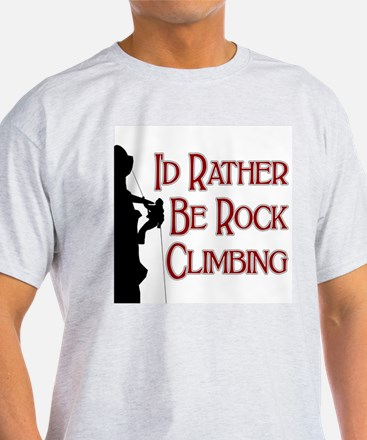 Rock Climbing Ash Grey T-Shirt