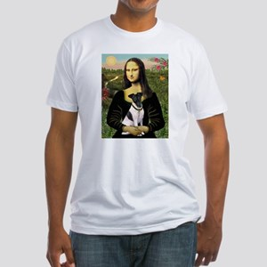 Mona and Fox Terrier Fitted T-Shirt