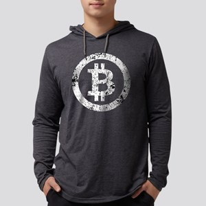 Bitcoin Symbol Vintage #4 Long Sleeve T-Shirt