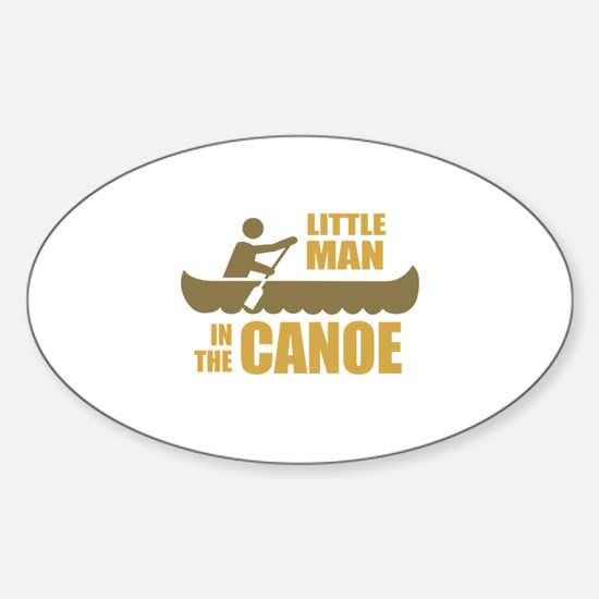Little man in the canoe Oval Decal