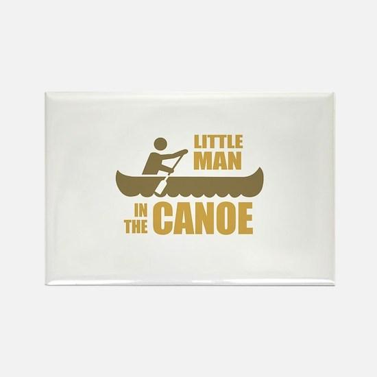 Little man in the canoe Rectangle Magnet