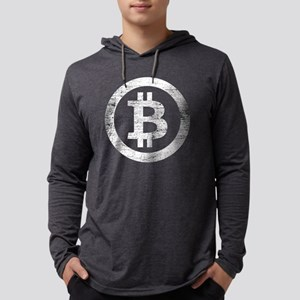 Bitcoin Symbol Vintage Long Sleeve T-Shirt