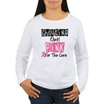 Shouting Out Pink Cure Women's Long Sleeve T-Shirt