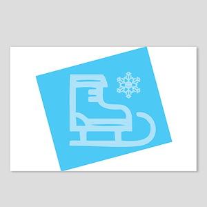 Hockey Skate - Snowflake Postcards (Package of 8)