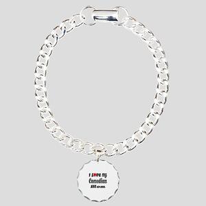 I Love My COMEDIAN Mom Charm Bracelet, One Charm