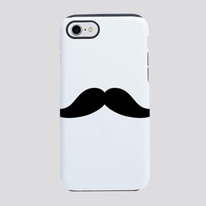 Black Curled Mustache iPhone 8/7 Tough Case