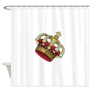 Royal Blue And Gold Shower Curtains