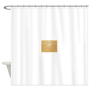 Shiny Gold Glitter Shower Curtains