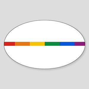 Gay Pride Oval Sticker