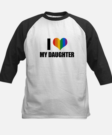 I love my gay daughter Kids Baseball Jersey